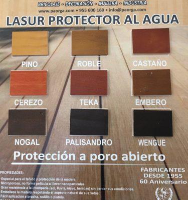 LASURES PROTECTORES AL AGUA