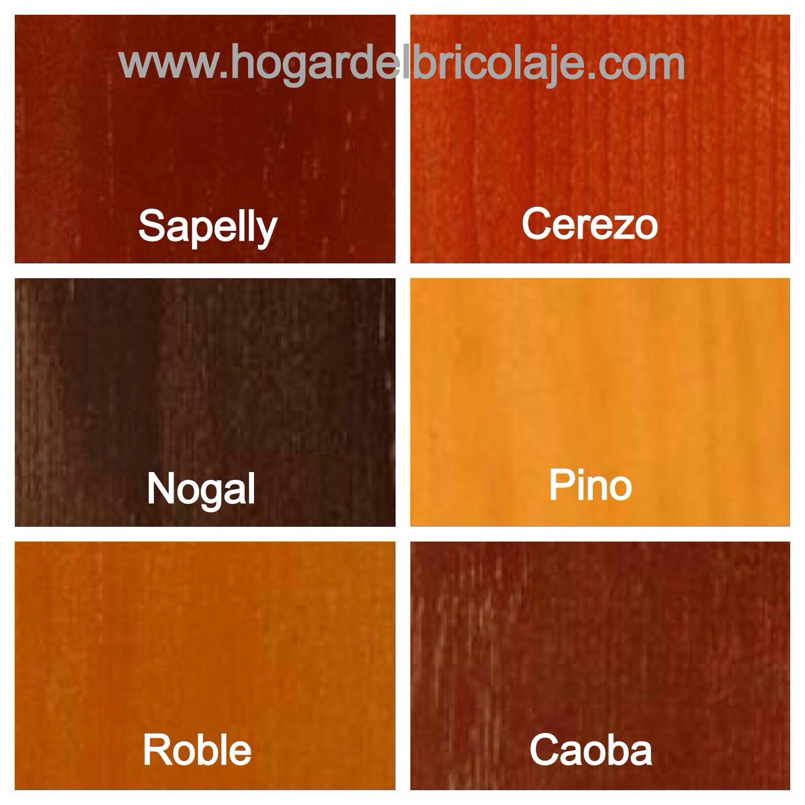Barniz tinte al agua para madera hogar del bricolaje - Colores de madera ...